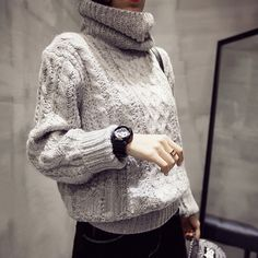 High collar will make you very sexy,you will definitely love this sweater.This…
