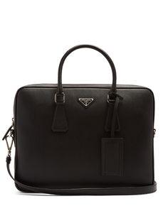 Prada Saffiano-leather briefcase