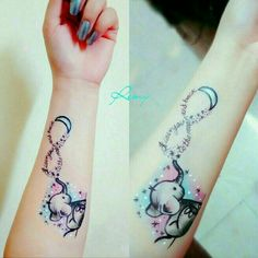 Watercolor tattoos are also a new creative in tattoo art. Watercolor tattoos are inspired from watercolor paintings. Watercolor tattoo helps to express emotions, love, beliefs etc. Watercolor tattoo i Mommy Tattoos, Baby Tattoos, Tattoos For Kids, Tattoos For Daughters, Friend Tattoos, Body Art Tattoos, Tattoos For Women, Tattoo Art, Daughter Tattoos