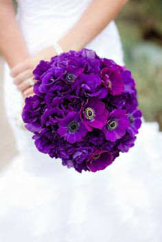 Majestic purple bouquet by Blush Botanicals