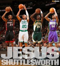Ray Allen through the years. Perfect for a wall frame. I gotta have this for my son!