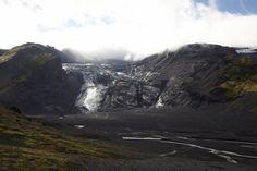 Gígjökull, an outlet glacier of famous Eyjafjallajökull