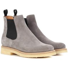 Church's Greenock Suede Chelsea Boots (1.705 BRL) ❤ liked on Polyvore featuring shoes, boots, beatle boots, grey shoes, chelsea bootie, gray suede boots and gray boots