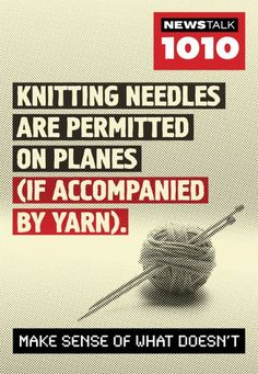 Crocheting Needles On Plane : Last week the guy next to me on a flight looked at my knitting needles ...