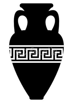 Ancient amphora (vase) with Greek abstract meander pattern - Buy this stock vector and explore similar vectors at Adobe Stock Dinosaure Herbivore, Rome Antique, Vase, Stickers, Ancient Greece, World Cultures, Doodle Art, Paper Cutting, Stencils