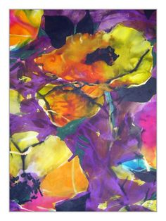 our new artwork Lizzie Derriey wallpaper/ textile painting acquired in France. French Wallpaper, Of Wallpaper, Designer Wallpaper, Original Wallpaper, Original Artwork, Chromotherapy, Black Flowers, Color Shapes, Purple Yellow