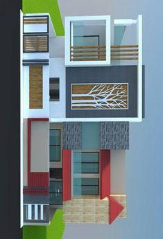 House Balcony Design, House Front Design, Door Design, Exterior Design, Building Elevation, House Elevation, Architecture Magazines, Modern Architecture, Evergreen House