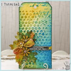 Tammy Tutterow | Tissue Wrap Jeweled Leaves Tutorial. This tutorial uses Tim Holtz Tissue Wrap dipped in UTEE.