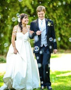 bulles de savon pour mariage