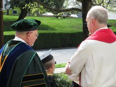 Beautiful weather made for a pleasant Alumni Weekend and Student Investiture Ceremony.