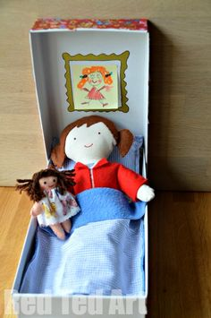 Doll in a Box - all tucked up