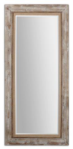 Uttermost Fardella Wood Floor Mirror | Wayfair $650
