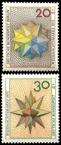 Polyhedron stamps - Germany - 1973