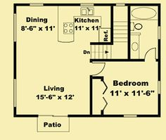 Architectural House Plans : Floor Plan Details : Rustic Guest House
