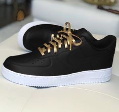 innovative design 6328d a40b4 Nike Air Force 1 Black Custom Sneaker
