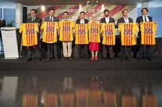 Els candidats a la presidència del Barça es comprometen amb les entitats de la societat civil - VilaWeb, 16.07.2015
