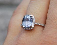 0.91ct Mint blue green pear sapphire diamond ring by EidelPrecious