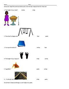 Units of Measurement: Inches, Feet and Yards | Worksheets ...