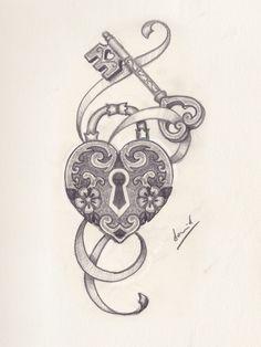 corazon y candado dibujo - Buscar con Google