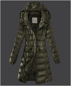 moncler clothing sale - Moncler Hermine Down Coats Womens Windproof Army Green