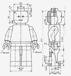 Minifig Dimensions