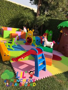 Perfect for Crawlers Toddler Play Area, Baby Play Areas, Soft Play Area, Soft Play Equipment, Preschool Decor, Backyard Birthday Parties, Kids Indoor Playground, Girl Birthday Decorations, Toy Rooms