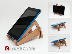 Tilting+Tablet+Stand+cnc/laser+by+ZenziWerken.