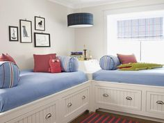 Two storage beds are a great alternative to traditional bunk beds for kids who share a room #hgtvmagazine http://www.hgtv.com/decorating-basics/18-ways-to-use-the-color-blue/pictures/page-8.html?soc=pinterest