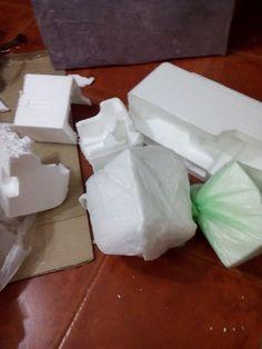 Reciclando telgopor para formar rocas