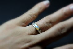 ethiopian welo fire opal oval ring / sterling silver / gugma jewelry