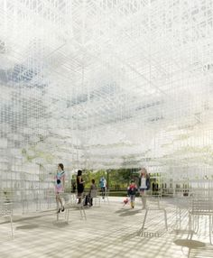 Serpentine Pavilion 2013, Kensington Gardens, London, England. Sou Fujimoto Architects. The Youngest architect to design a temporary structure for public use in the park.