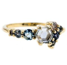 Hex Sapphire Cluster Ring - Gorgeous Alternatives to Traditional Wedding and Engagement Rings - Photos