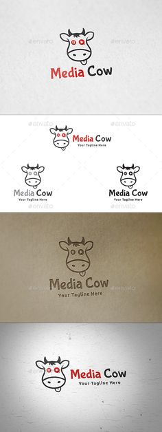 Media Cow Logo Template — Vector EPS #multimedia #movies • Available here → https://graphicriver.net/item/media-cow-logo-template-/12264384?ref=pxcr