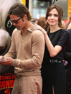 Brad pitt and Angelina jolie♡ Angelina And Brad Pitt, Brad And Angie, Angelina Jolie Photos, Brad Pitt Hair, Celebrity Couples, Celebrity Photos, Celebrity Babies, Celebrity Style, Jolie Pitt