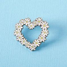 Daisy Heart Enamel Pin