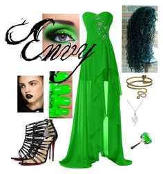 """""""Envy"""" by renee-lowrimore on Polyvore featuring beauty, Christian Louboutin and Giles"""