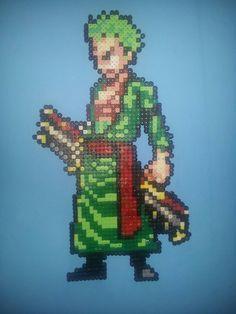 Roronoa Zoro - One Piece hama perler beads by davedudedead