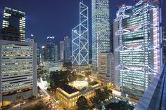 Central by night (a view from Mandarin Oriental, Hong Kong)