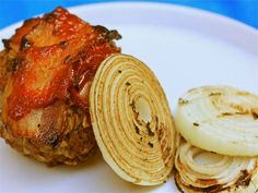 Grilled, Bacon-Topped Meatloaf Stuffed With Beer Cheese