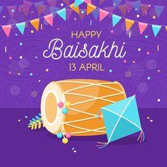 Happy baisakhi in flat design. Download for free at freepik.com! #Freepik #freevector #design #happybaisakhi Graphic Design Templates, Modern Graphic Design, Lohri Greetings, Baisakhi Festival, Happy Baisakhi, Happy Lohri, Flat Design, Festival Celebration, Event Themes