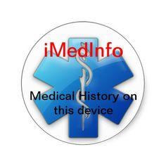 iMedInfo Round Sticker
