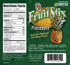 FRUIT STIX - PINEAPPLE TWO 3.65OZ BAGS, NEW Pineapple Fruit Stix, Naturally Flavored with Mixed Fruits, Fortified with Omega 3 Krill Oil ---> http://huberclan07.jerkydirect.com/?page=prod&ID=231&pageaction=1&prodcat=1