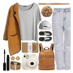Entering into Class Fashionably Late by sweet-jolly-ranchers on Polyvore featuring Chicnova Fashion, Pull&Bear, FitFlop, FOSSIL, Isabel Marant, Chanel, H&M and Stila