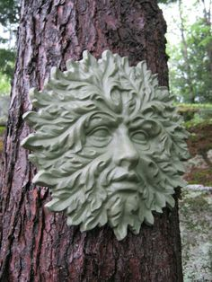 Garden Green Man Concrete Cement Face By WestWindHomeGarden
