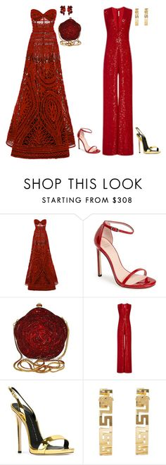 """Senza titolo #4473"" by marcellamic ❤ liked on Polyvore featuring Naeem Khan, Stuart Weitzman, Giuseppe Zanotti and Versace"