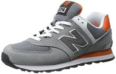 New Balance ML_WL574 Herren Sneakers, Grau (Grey/Orange), 13 US - 47.5 EU - http://on-line-kaufen.de/new-balance/13-us-47-5-eu-new-balance-ml-wl574-herren-sneakers
