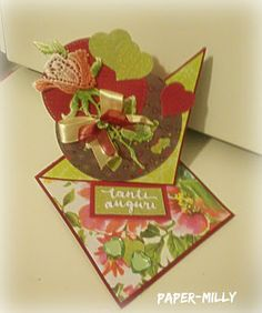 Le Tre Pazze PAPERine-TWISTED EASEL CARD