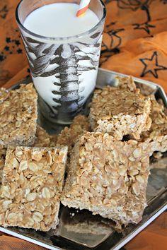 no bake pumpkin peanut butter bars