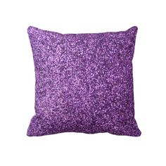 Faux Purple Glitter Pillows