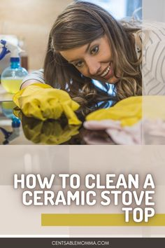 Do you have a glass stove top that seems like it always has gunk on it? Check out this easy way to clean your ceramic stop top with natural ingredients you already have on hand.